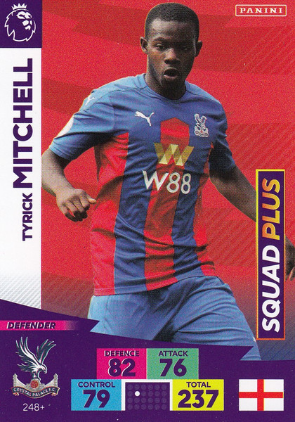#248+ Tyrick Mitchell (Crystal Palace) Adrenalyn XL Premier League PLUS 2020/21 SQUAD PLUS