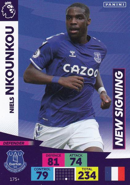 #175+ Niels Nkounkou (Everton) Adrenalyn XL Premier League PLUS 2020/21 NEW SIGNINGS