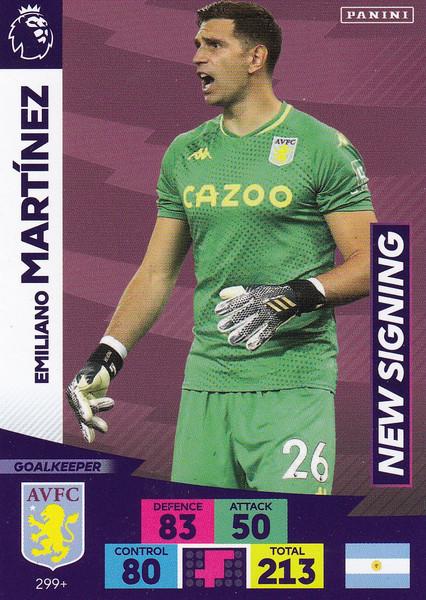 #299+ Emiliano Martinez (Aston Villa) Adrenalyn XL Premier League PLUS 2020/21 NEW SIGNINGS