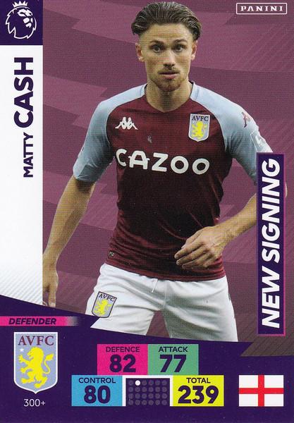 #300+ Matty Cash (Aston Villa) Adrenalyn XL Premier League PLUS 2020/21 NEW SIGNINGS