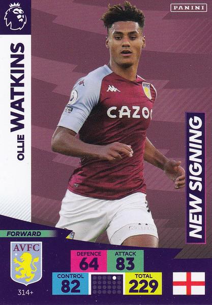 #314+ Ollie Watkins (Aston Villa) Adrenalyn XL Premier League PLUS 2020/21 NEW SIGNINGS