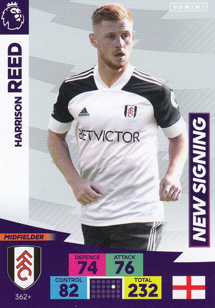 #362+ Harrison Reed (Fulham) Adrenalyn XL Premier League PLUS 2020/21 NEW SIGNINGS