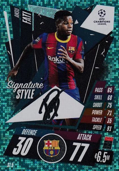 #SI5 Ansu Fati (FC Barcelona) Match Attax EXTRA 2020/21 SIGNATURE STYLE