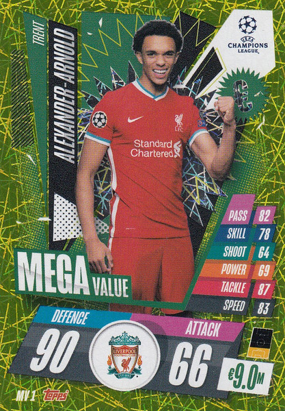 #MV1 Trent Alexander-Arnold (Liverpool) Match Attax EXTRA 2020/21 MEGA VALUE