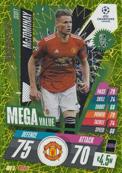#MV3 Scott McTominay (Manchester United) Match Attax EXTRA 2020/21 MEGA VALUE