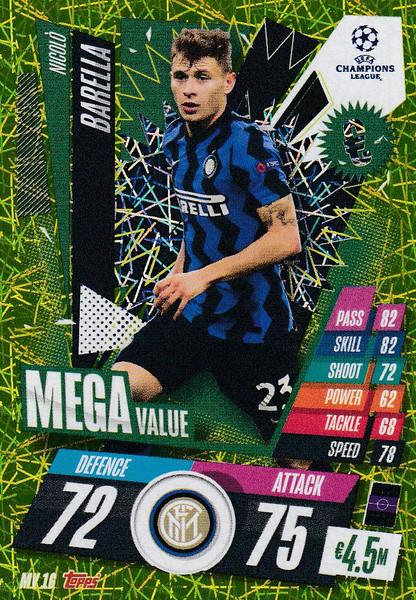 #MV16 Nicolo Barella (FC Internazionale Milano) Match Attax EXTRA 2020/21 MEGA VALUE