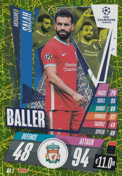 #BA1 Mohamed Salah (Liverpool) Match Attax EXTRA 2020/21 BALLER