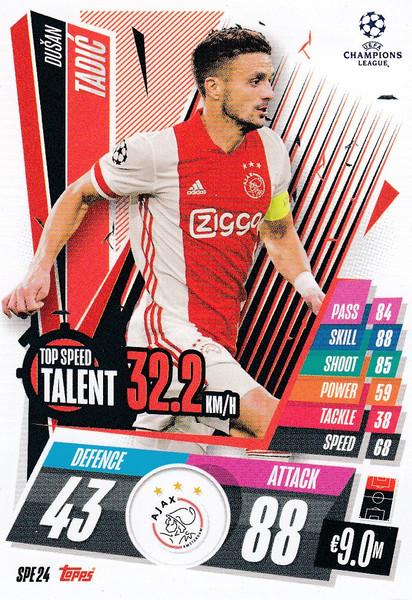 #SPE24 Dušan Tadić (AFC Ajax) Match Attax EXTRA 2020/21 TOP SPEED TALENT