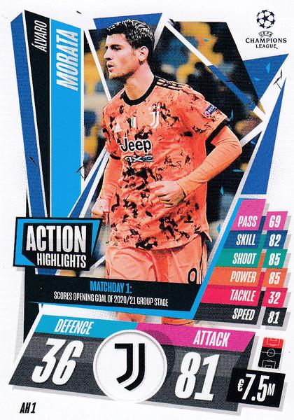 #AH1 Álvaro Morata (Juventus) Match Attax EXTRA 2020/21 ACTION HIGHLIGHTS