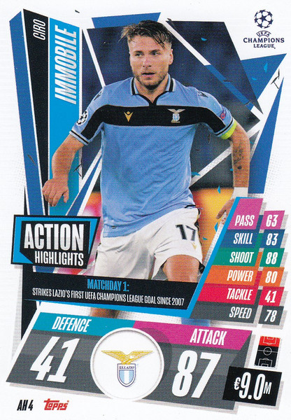 #AH4 Ciro Immobile (SS Lazio) Match Attax EXTRA 2020/21 ACTION HIGHLIGHTS