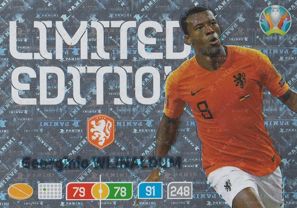 Georginio Wijnaldum (Netherlands) Adrenalyn XL Euro 2020 LIMITED EDITION