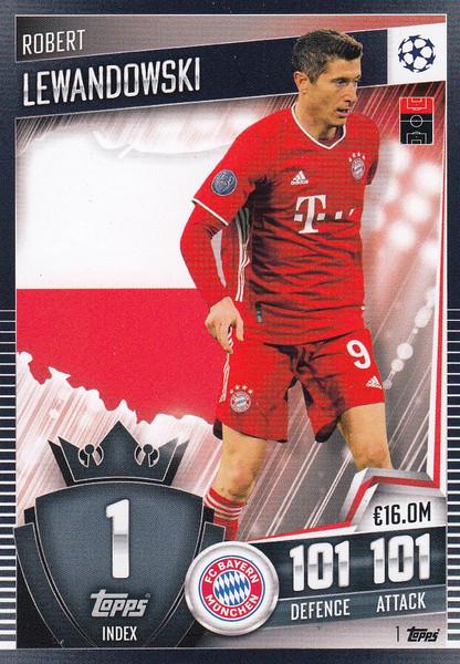 #1 Robert Lewandowski (FC Bayern München) Match Attax 101 2020/21
