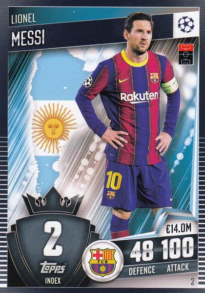 #2 Lionel Messi (FC Barcelona) Match Attax 101 2020/21
