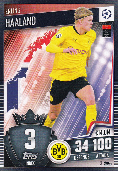 #3 Erling Haaland (Borussia Dortmund) Match Attax 101 2020/21