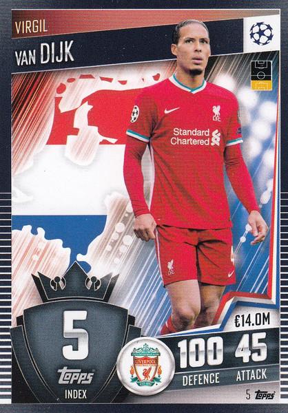 #5 Virgil van Dijk (Liverpool) Match Attax 101 2020/21