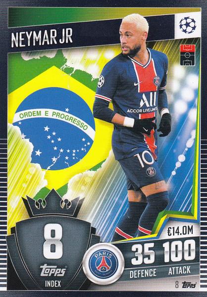 #8 Neymar Jr (Paris Saint-Germain) Match Attax 101 2020/21