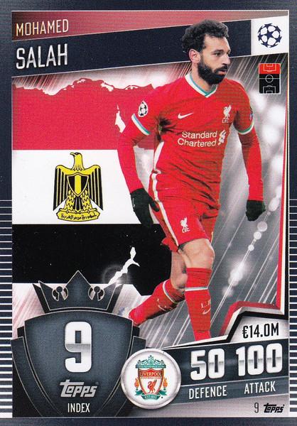 #9 Mohamed Salah (Liverpool) Match Attax 101 2020/21