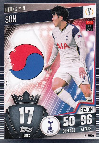 #17 Heung-Min Son (Tottenham Hotspur) Match Attax 101 2020/21