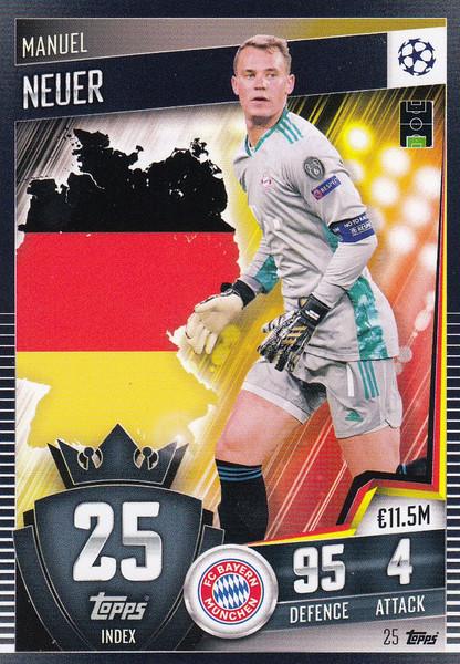 #25 Manuel Neuer (FC Bayern München) Match Attax 101 2020/21