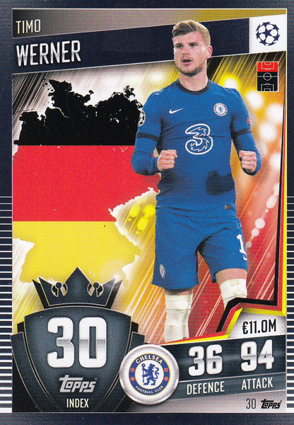 #30 Timo Werner (Chelsea) Match Attax 101 2020/21