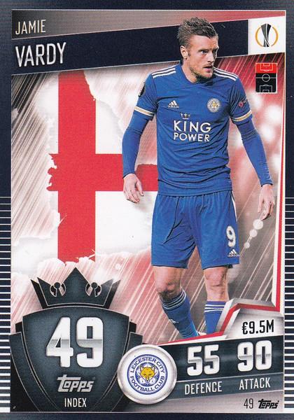 #49 Jamie Vardy (Leicester City) Match Attax 101 2020/21