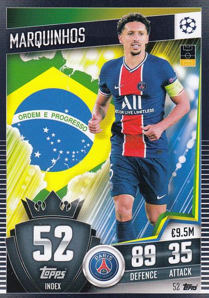 #52 Marquinhos (Paris Saint-Germain) Match Attax 101 2020/21