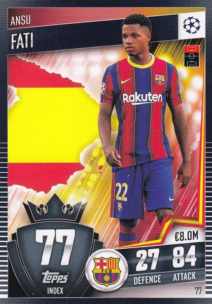 #77 Ansu Fati (FC Barcelona) Match Attax 101 2020/21