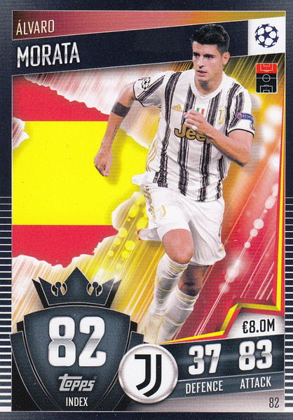 #82 Álvaro Morata (Juventus) Match Attax 101 2020/21