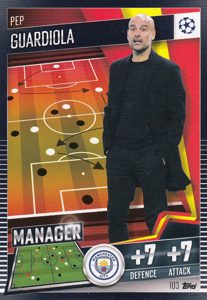 #103 Pep Guardiola (Manchester City) Match Attax 101 2020/21 MANAGER