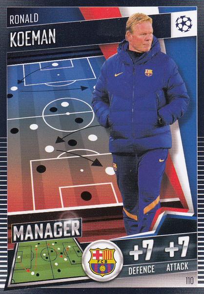 #110 Ronald Koeman (FC Barcelona) Match Attax 101 2020/21 MANAGER
