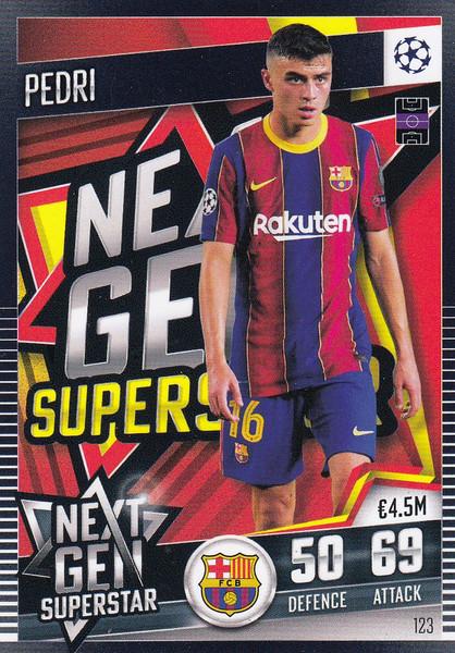 #123 Pedri (FC Barcelona) Match Attax 101 2020/21 NEXT GEN SUPERSTAR