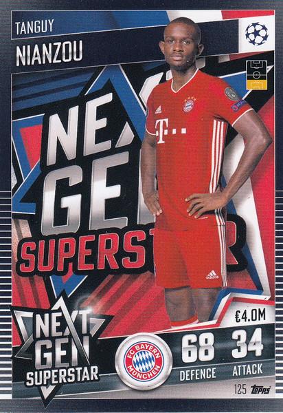 #125 Tanguy Nianzou (FC Bayern München) Match Attax 101 2020/21 NEXT GEN SUPERSTAR