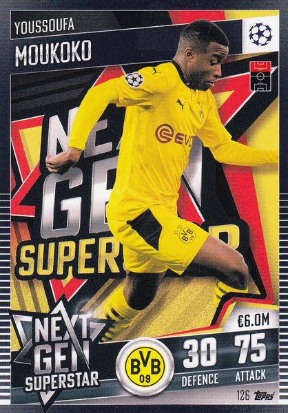 #126 Youssoufa Moukoko (Borussia Dortmund) Match Attax 101 2020/21 NEXT GEN SUPERSTAR