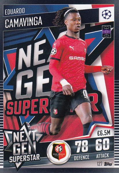 #127 Eduardo Camavinga (Stade Rennes FC) Match Attax 101 2020/21 NEXT GEN SUPERSTAR