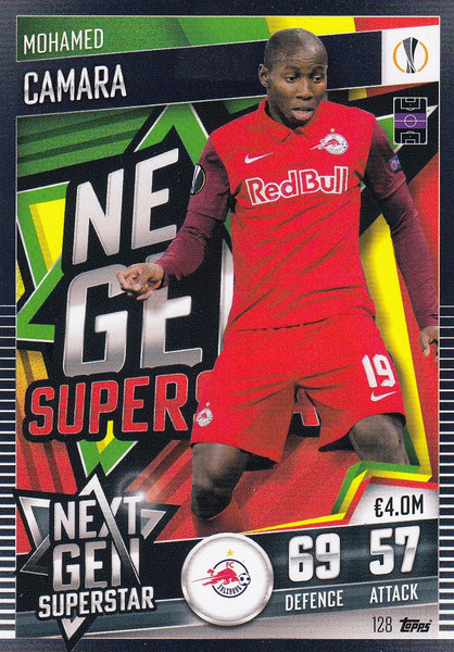 #128 Mohamed Camara (FC Salzburg) Match Attax 101 2020/21 NEXT GEN SUPERSTAR