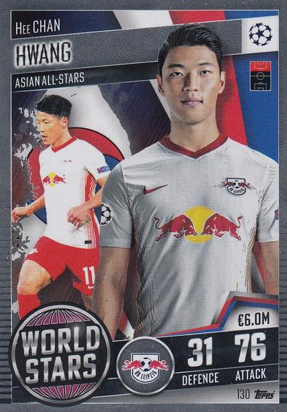 #130 Hee-Chan Hwang (RB Leipzig) Match Attax 101 2020/21 WORLD STAR
