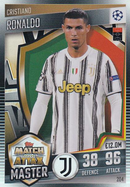 #204 Cristiano Ronaldo (Juventus) Match Attax 101 2020/21 MATCH ATTAX MASTER