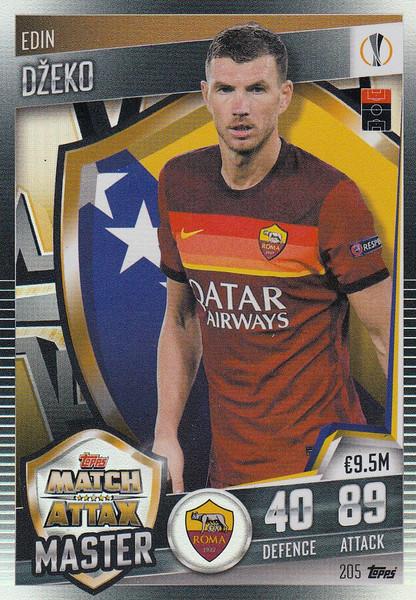 #205 Edin Džeko (AS Roma) Match Attax 101 2020/21 MATCH ATTAX MASTER