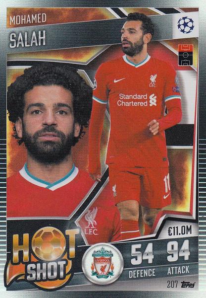 #207 Mohamed Salah (Liverpool) Match Attax 101 2020/21 HOT SHOT