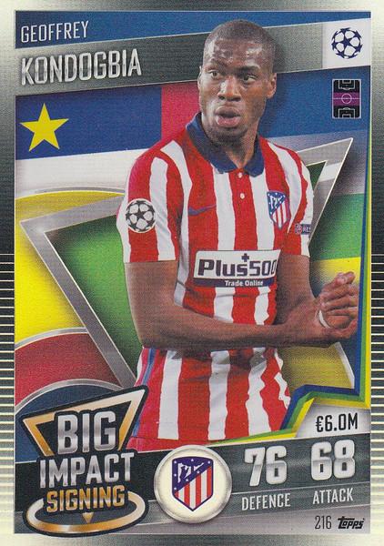 #216 Geoffrey Kondogbia (Club Atlético de Madrid) Match Attax 101 2020/21 BIG IMPACT SIGNING