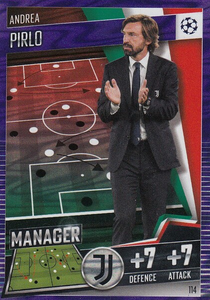 #114 Andrea Pirlo (Juventus) Match Attax 101 2020/21 PURPLE PARALLEL