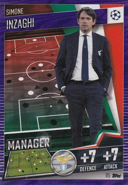#115 Simone Inzaghi (SS Lazio) Match Attax 101 2020/21 PURPLE PARALLEL