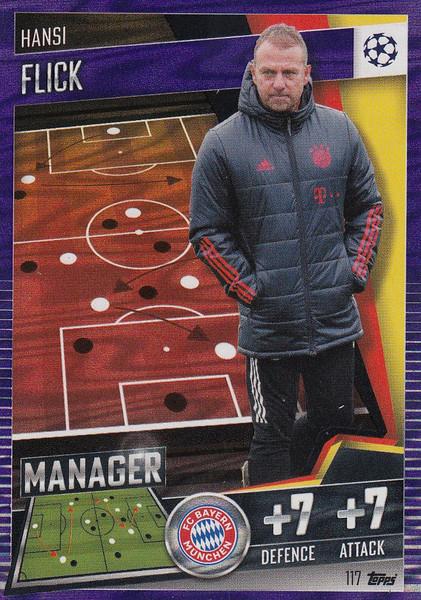 #117 Hansi Flick (FC Bayern München) Match Attax 101 2020/21 PURPLE PARALLEL