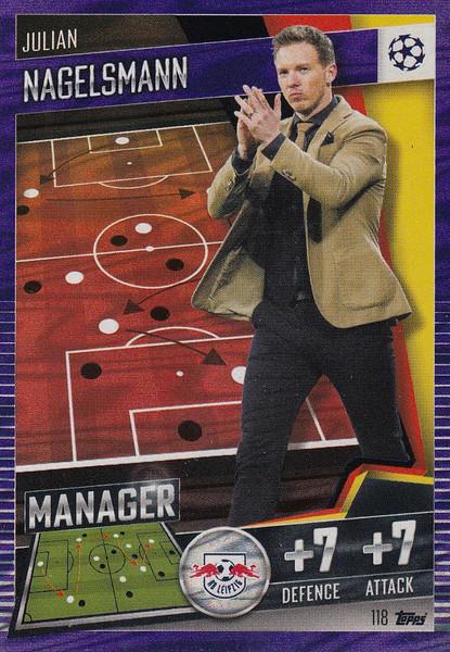 #118 Julian Nagelsmann (RB Leipzig) Match Attax 101 2020/21 PURPLE PARALLEL