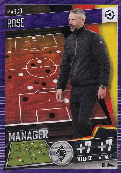 #119 Marco Rose (VfL Borussia Mönchengladbach) Match Attax 101 2020/21 PURPLE PARALLEL