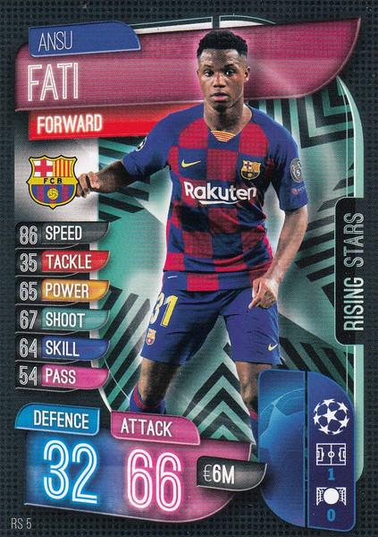 #RS5 Ansu Fati (FC Barcelona) Match Attax EXTRA 2019/20 RISING STAR