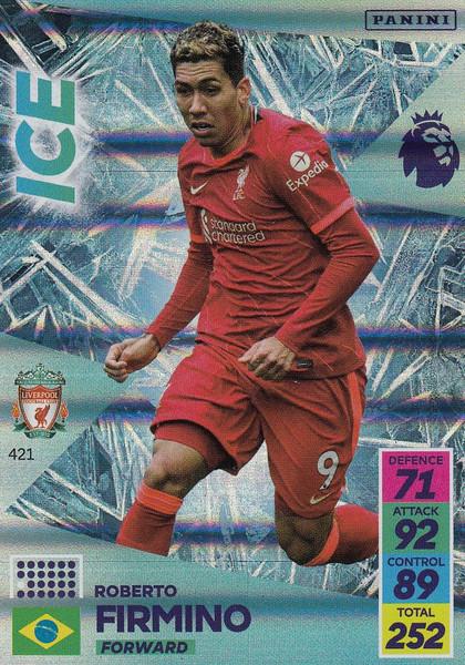 #421 Roberto Firmino (Liverpool) Adrenalyn XL Premier League 2021/22 ICE