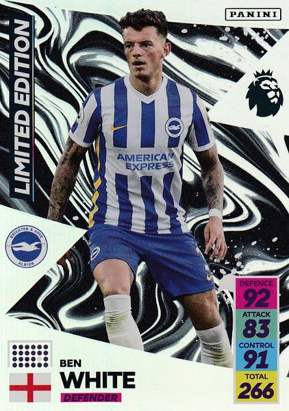 Ben White (Brighton & Hove Albion) Adrenalyn XL Premier League 2021/22 LIMITED EDITION