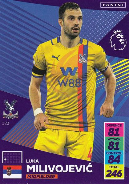 #123 Luka Milivojevic (Crystal Palace) Adrenalyn XL Premier League 2021/22