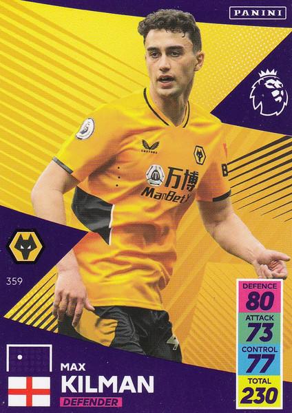 #359 Max Kilman (Wolverhampton Wanderers) Adrenalyn XL Premier League 2021/22